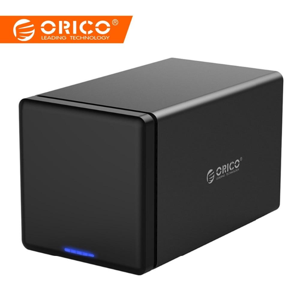 ORICO NS500C3 Strumento di Spedizione 5-Bay da 3.5 pollici 5 Gbps USB3.0 per SATA3.0 Hard Drive Dock UASP Box e Alloggiamenti per HDD Caso