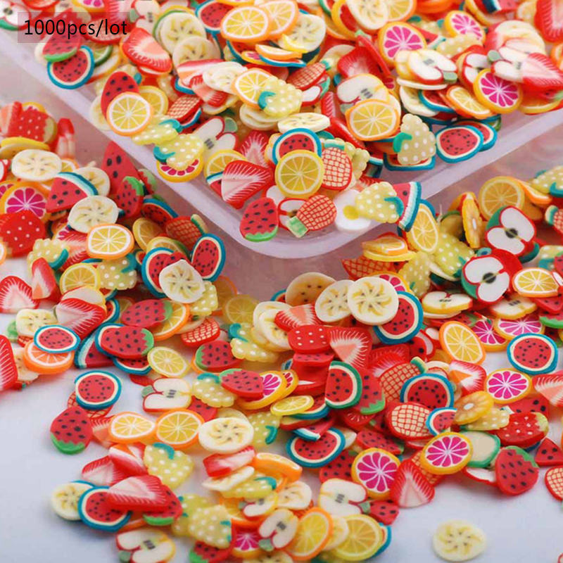T TIAO CLUB 3D Nail Slices Fruit Animals Fimo Slice Clay DIY Nail Art Tips Sticker Decoration Acrylic Manicure Accessories in Rhinestones Decorations from Beauty Health
