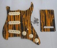 Kaish Страт накладку Черный/Желтый плетеная w/в возрасте Белый Пикап крышки, ручки, переключатель Совет