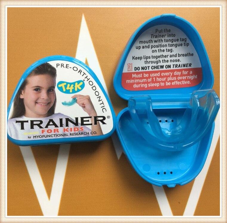Купить с кэшбэком Approved Original Myofunctional T4K Orthodontic Teeth Trainer Blue Color Phase I Made in Australia