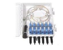 FirstFiber FTTH 6 cores fiber Termination Box 6 port 6 channel Splitter Box indoor outdoor fiber Optical Splitter Box FTB ABS