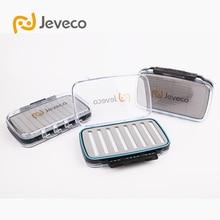 Jeveco Brand JFB-004, 190*122*40mm Plastic Waterproof Double Side cover, Slit Foam inside, fly Fishing Box, Fishing Tackle Case