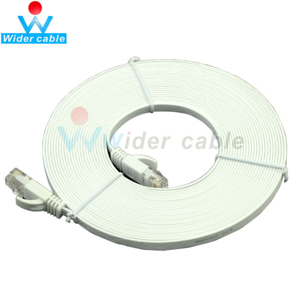 1m 2m 3m 5M Best Price Flat Cabo UTP CAT 6 Ethernet Network Lan Cable RJ45 To RJ45 White Color
