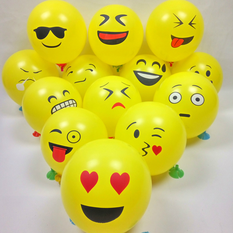 10pcs/lot 12 inch high quality interesting expression balloon Funny face Inflatable Toys kids birthday party decoration balloons