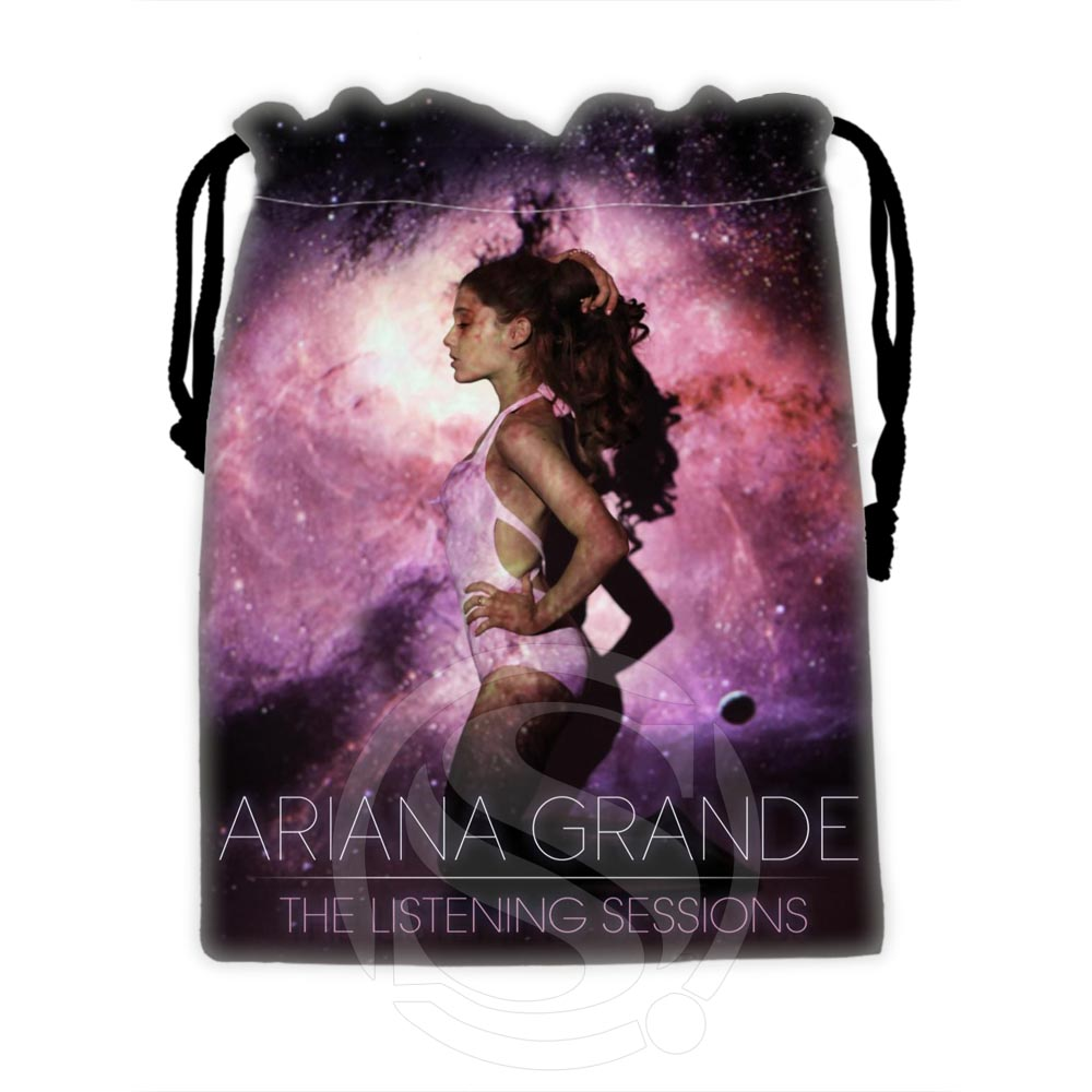H-P619 Custom Ariana Grande #16 Drawstring Bags For Mobile Phone Tablet PC Packaging Gift Bags18X22cm SQ00806#H0619