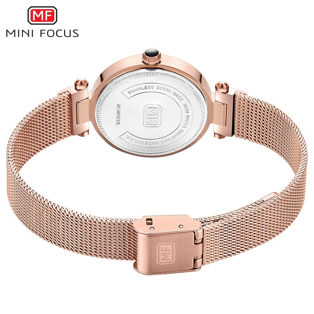 Image 4 - MINI FOCUS Quartz Women Watches Blue Ultra Thin Mesh Strap Clock Crystal Roman Numeral Minimalist Dress Ladies WristwatchesWomens Watches   -