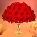 Rosas coloridas Flores Decorativa Lámpara De Mesa Lámpara de Escritorio de la Habitación de Matrimonio Dormitorio Hermoso Romance