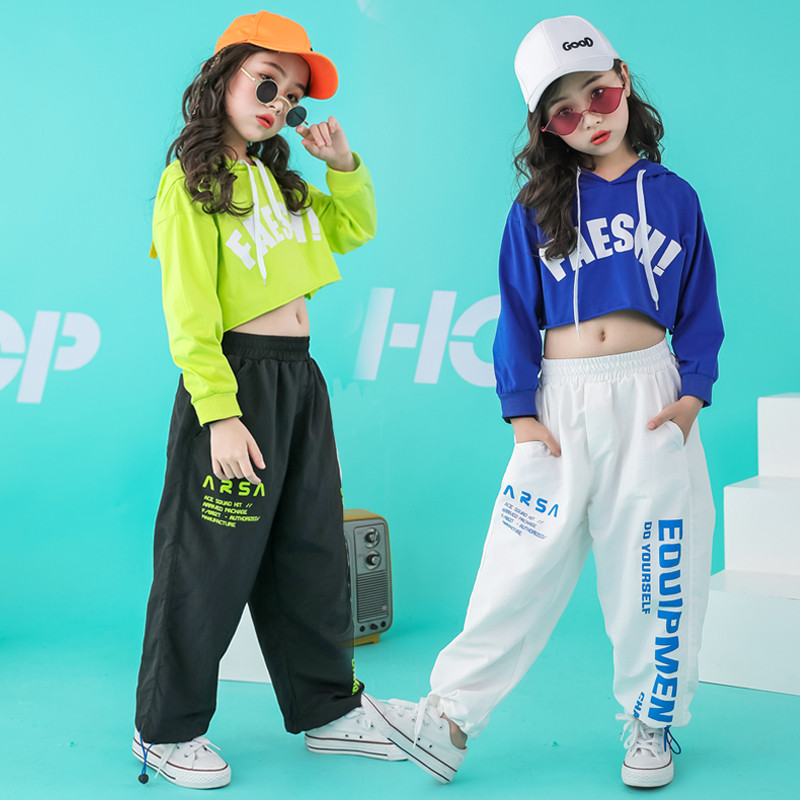 Image 2 - Newborn girls clothes  sets hip hop hoodie kids  dance costumes jazz summer baby girls clothing set childrens clothing 160 140Clothing Sets   -