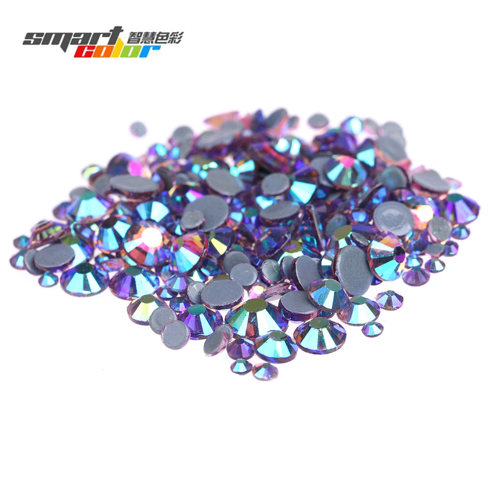 Light Amethyst AB Iron On Hotfix Rhinestones With Glue Backing Flatback Strass Stones For Clothes Shoes DIY Decorations resin rhinestones pink ab color 2mm 6mm 10000 50000pcs round flatback glue on strass beads for jewelry making diy decorations