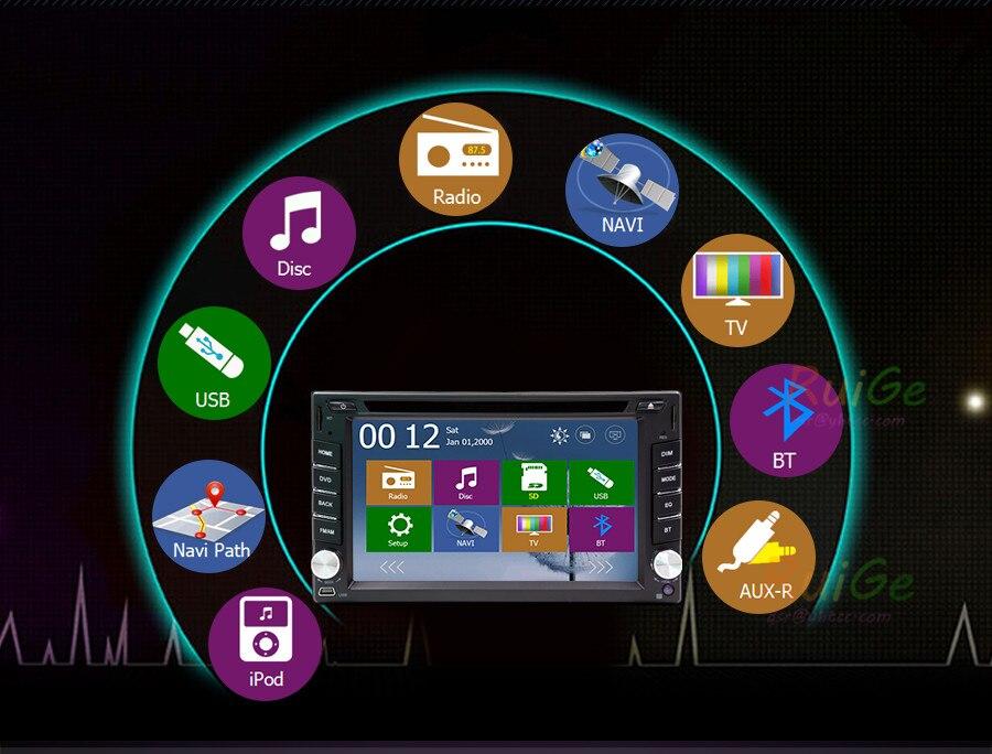 Car Multimedia Player 2 din radio steering-wheel tape recorder cassette player car GPS navigator BT Radio 2 din Rear View Camera
