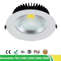 LED Downlight 7W 10W 15W 20W 30W Dimmable Recessed Spot Light 110V 120V 220V 230V 240V