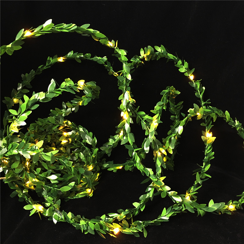 5M 10M Outdoor LED Holiday Light Leaf Twine Fairy Garland String Lights Battery Usb Power Operate for Rustic Wedding Party Decor in LED String from Lights Lighting