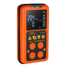 4 in 1 Digital LCD Gas Detector O2 H2S CO LEL Monitor Gas Analyzer air quality Monitor Gas Tester Carbon Monoxide Meter 1 pc handheld carbon monoxide co monitor detector meter tester 0 1000ppm gm8805 brand new