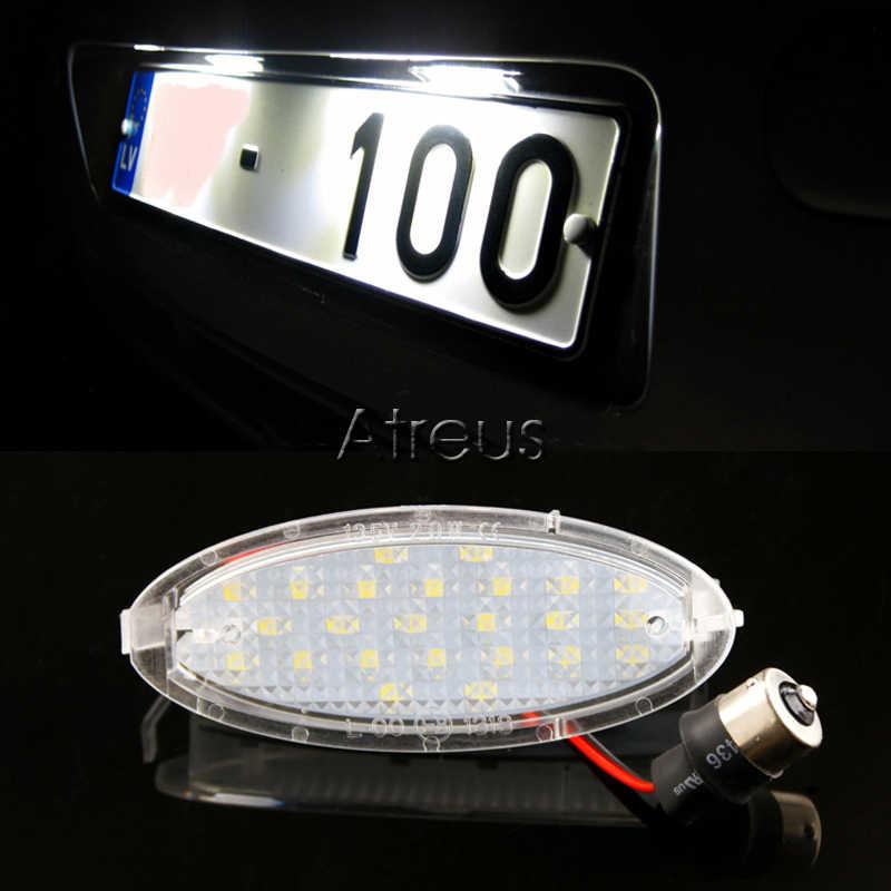 Atreus 2X voiture plaque d'immatriculation LED lumières 12 V LED plaque d'immatriculation lampe Kit ampoule pour Opel Astra G Corsa A-B Vectra B Tigra accessoires