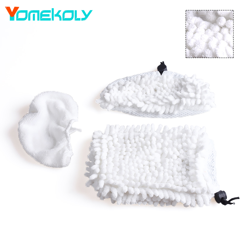 3pcs/set Steam Mop Pad Replacement For Shark S2 S2S S2ST S3S S7 Mop Clean Washable Cloth Microfiber Steam Mop Cloth steam mop pads for bissell powerfresh microfiber power steamer mop pad washable replacement for bissell mop pad 2pcs