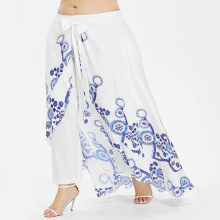 Women's Plus Size Summer Wide Skirted Pants