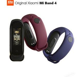 Image 1 - Pulseira smart xiaomi mi band 4 original, 0.95 polegadas, tela touch screen, controle de música, monitor cardíaco bt bt