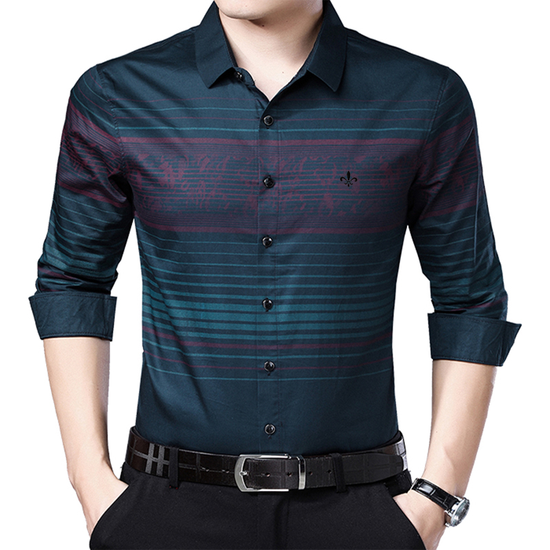 Image 3 - DUDALINA Me Shirt 2020 Camisa Casual Long Sleeve Shirt Men Soft Slim Fit Brand Men Clothes ShirtCasual Shirts   -