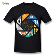 Cool Man Cryptocurrency Bitcoin T-Shirt Nice Graphic Cotton Homme Tee Shirts Big Size