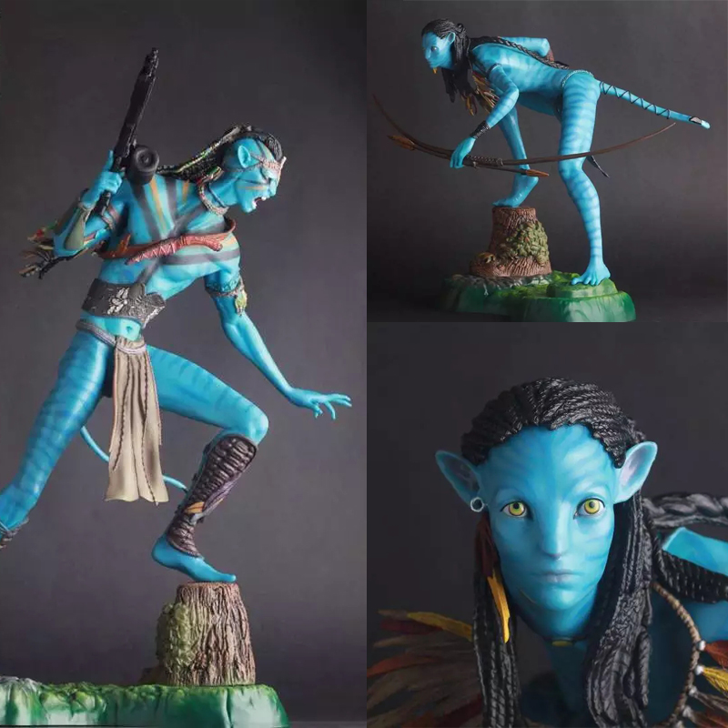 Crazy Toys 1 6 Avatar 2 Neytiri Jake Sully Statue PVC Figure Model Toys 50cm