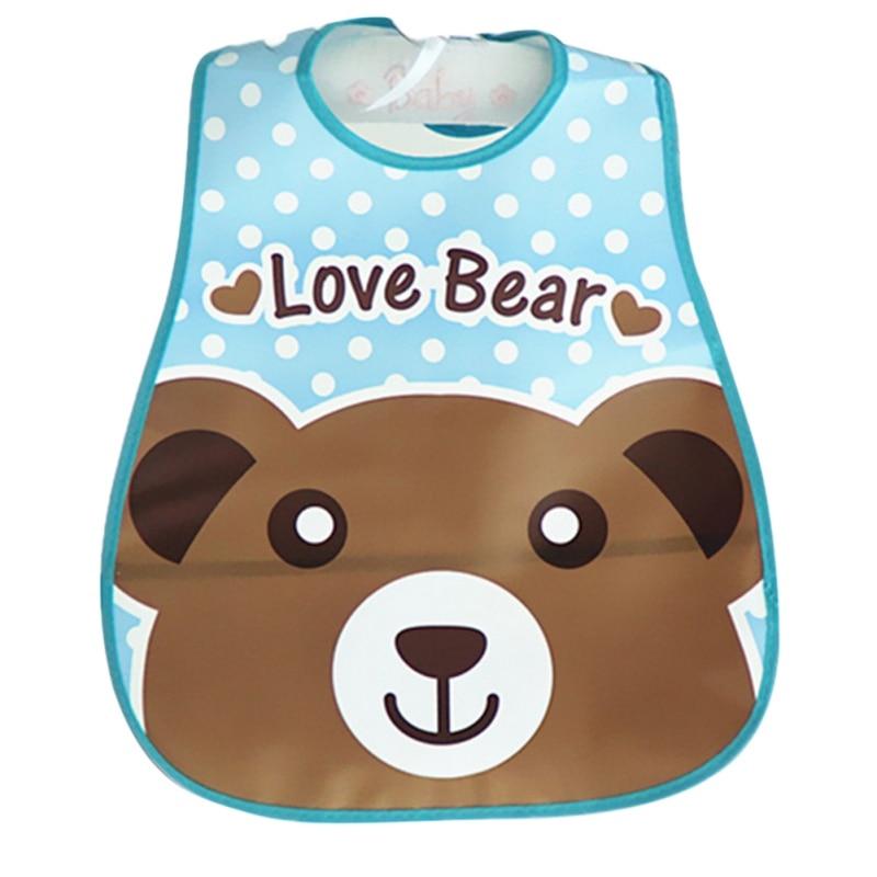 Lovely Newborn Baby Bibs Waterproof Silicone Feeding Saliva Towel Fruit Print Aprons Baby Bibs