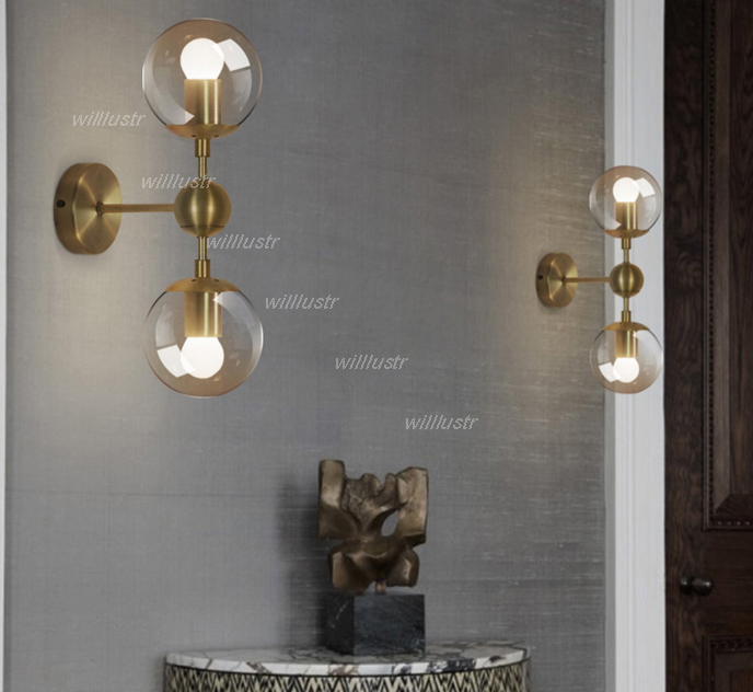 Gold wall lamp modern wall sconce wall light glass shade lighting gold wall lamp modern wall sconce wall light glass shade lighting iron wall lights 1 globe 2 globes golden color bedside light in wall lamps from lights mozeypictures Images