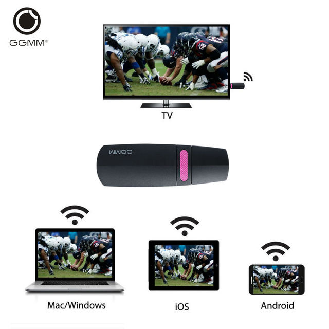 GGMM Chromecast Miracast Ezcast 2.4G Mini PC Android Chrome Cast HDMI WiFi Dongle DLNA Streaming Media Player Mirascreen Anycast