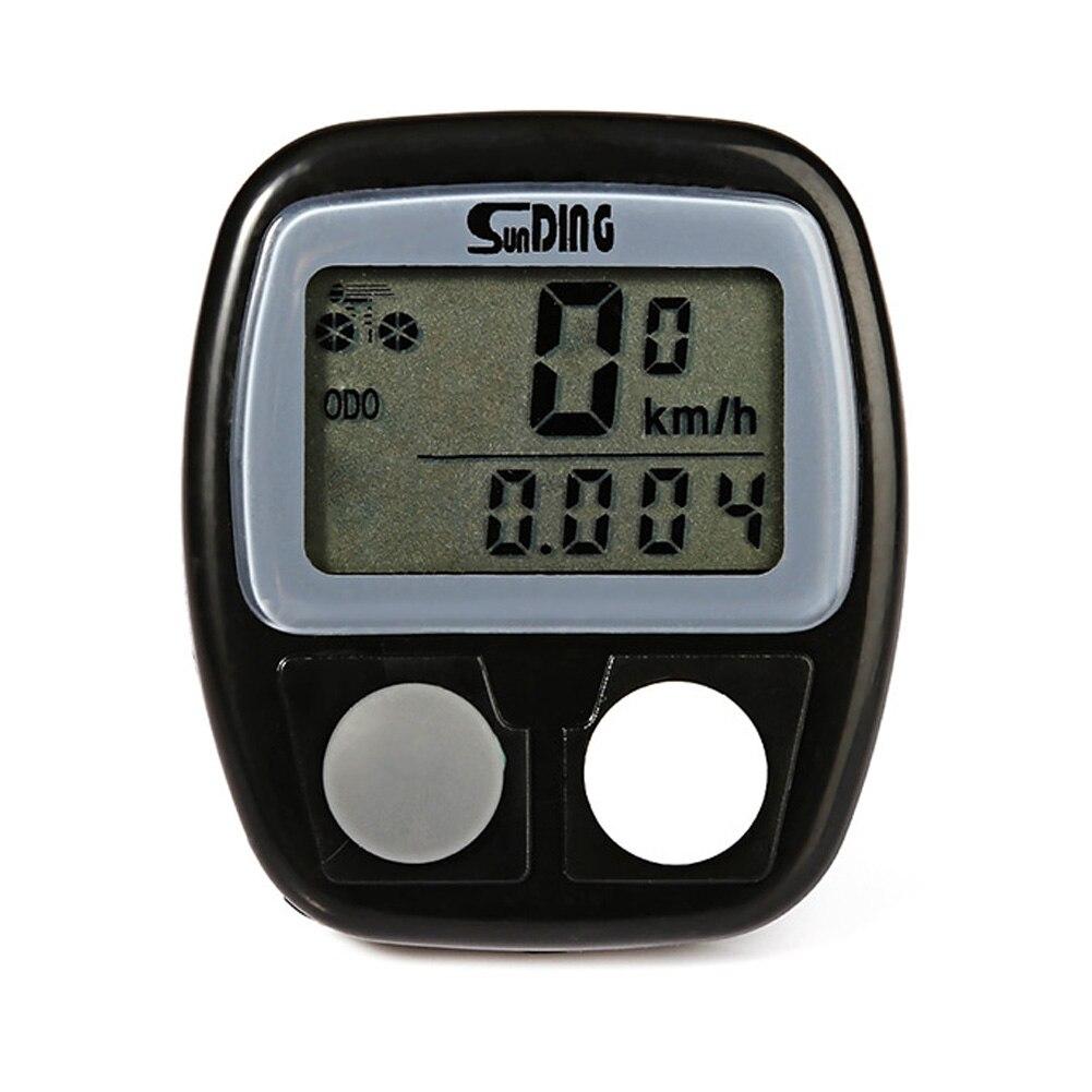 Digital Bike Computer Multifunction Waterproof Bicycle Computer Speedometer Cycling Odometer with LCD Blue Backlight