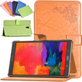 "Fashion bussiness case cover for Samsung Galaxy Tab S 8.4 T705 T700 8.4"" stand cover leather protective case + screen protector"