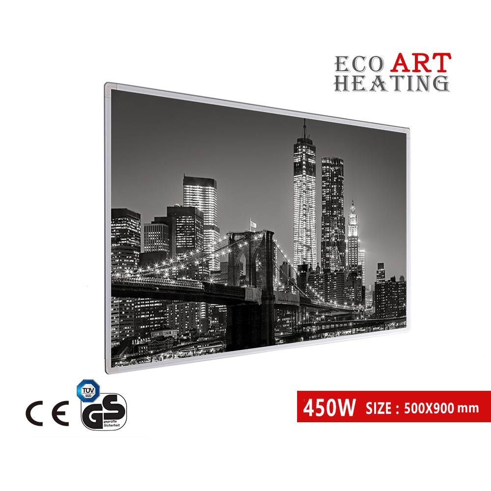 450W Far InfraRed Picture Heating Panel Energy Efficient Radiant Infrared Heater Home Deco