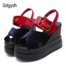 9f8559bf87740d Gdgydh livraison directe plate-forme sandales femmes chaussures d'été  compensées talons hauts boucle