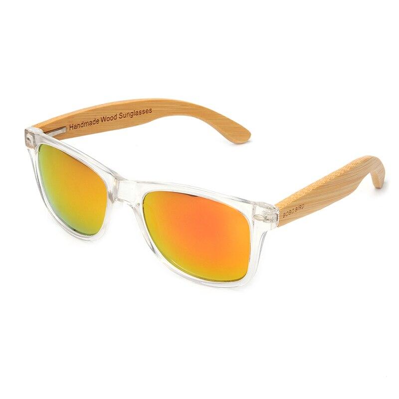 BOBO BIRD Wood Bamboo Polarized Sunglasses Clear Color Women's Glasses  With UV 400 oculos de sol feminino C-CG008 3