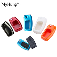5 Color Painted ABS Car Key Shell Key Protective Cover Case For Ford Focus Fiesta MK7