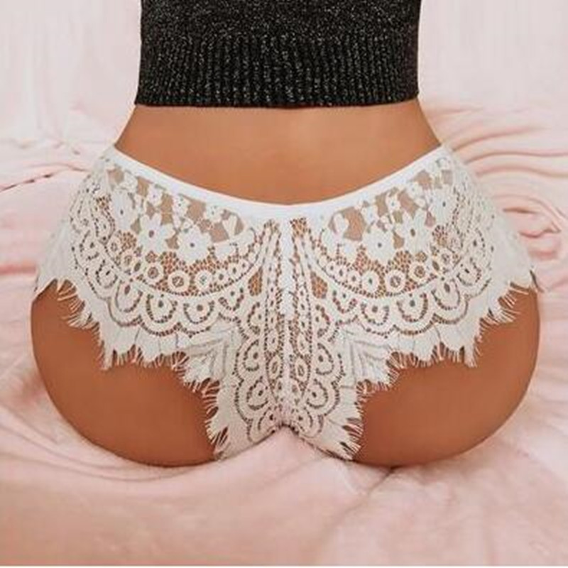Sexy Lace   Panties   Soft Breathable Briefs Women Underwear Ladies   Panty   Transparent Tempting Low-Rise Hollow Lingerie Large Size