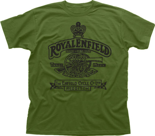 Royal Enfield T shirt men Motorcycle Biker Vintage Classic 100% cotton tee USA size S-3x ...