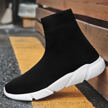 Cork Breathable Ankle Boot Women Socks Shoes Female Sneakers