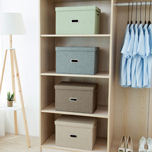 Cotton and Linen Folding Home Storage Box Clothing Storage Box Children's Toy Storage Box Cosmetic Storage Container