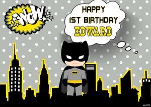 Image 5 - Sxy107b Cartoon Batman Backdrops Custom Children Birthday Photocall Night Super Hero Backgrounds For Photo Studio 220x150cm