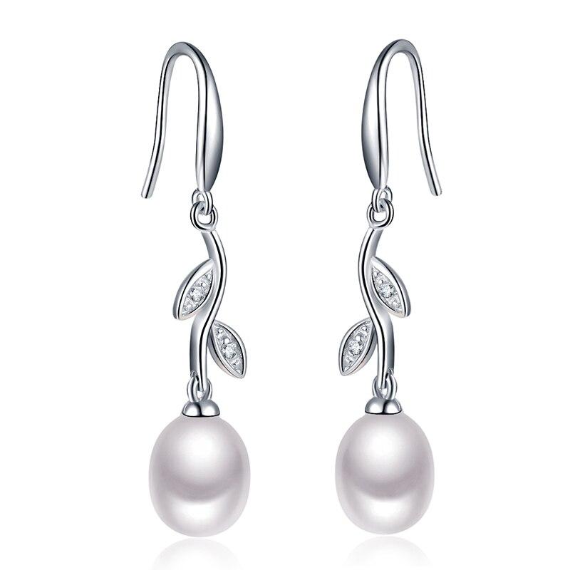 Sinya 925 šterling srebrni biser dolgi uhani pomlad catkins Design naravni sladkovodni biser lep nakit za izjemne ženske