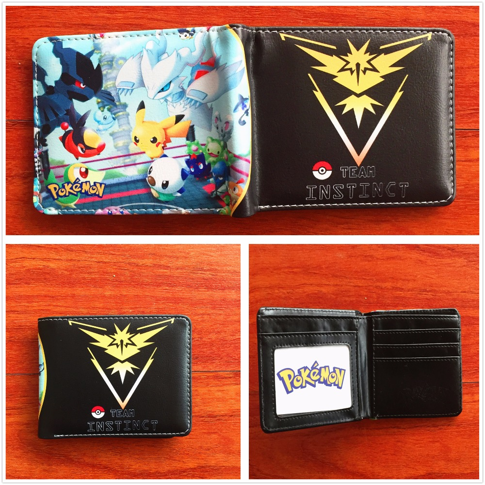2018 New Hot Game Pokemon Wallet Monster Charizard Pikachu Poke Short Wallets folding Card Holder Purse For Teenagers W658
