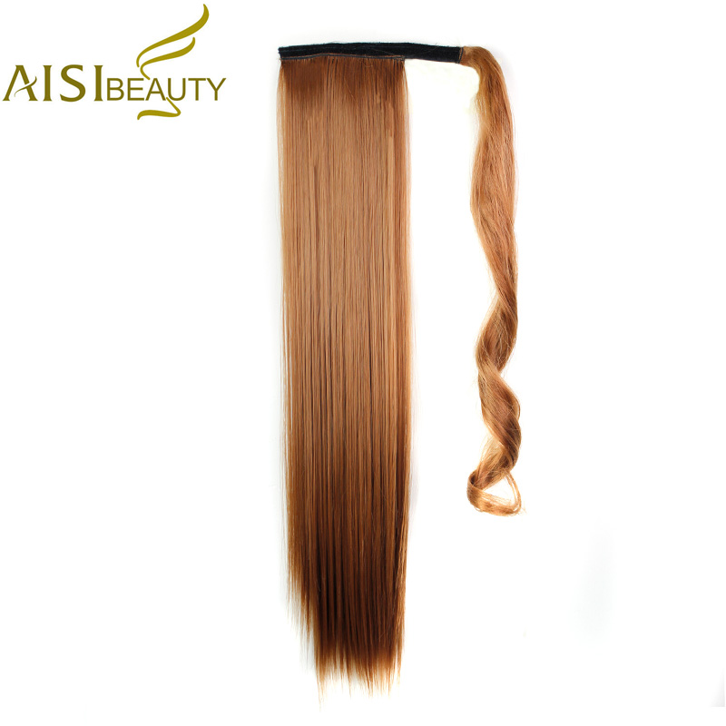 Aisi красоты 24 110 г 15 цветов доступны высокое Температура Волокно Синтетический Поддельные волос запахом хвост расширения для Для женщин