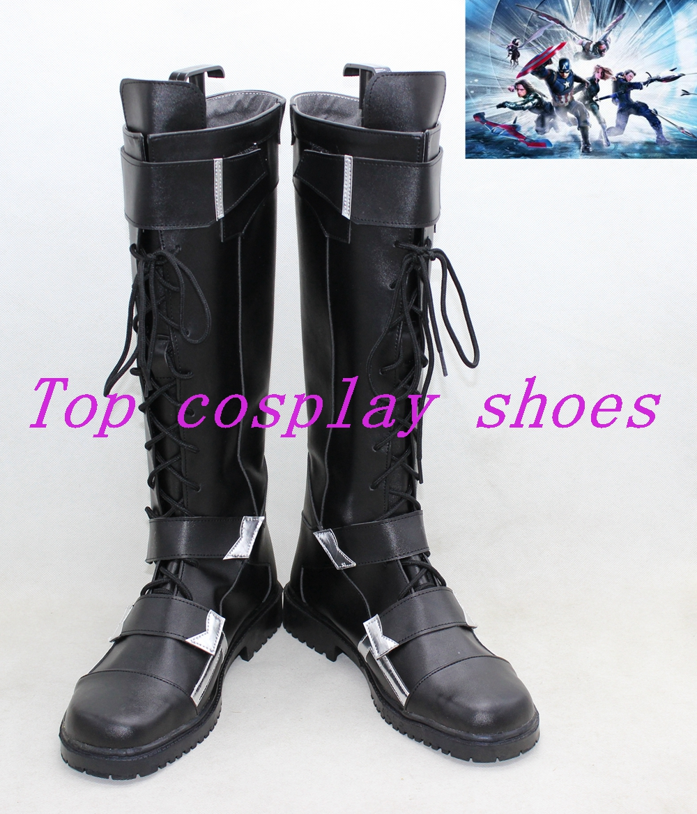 Captain America 2 Winter Soldier Cosplay Boots shoes shoe boot new
