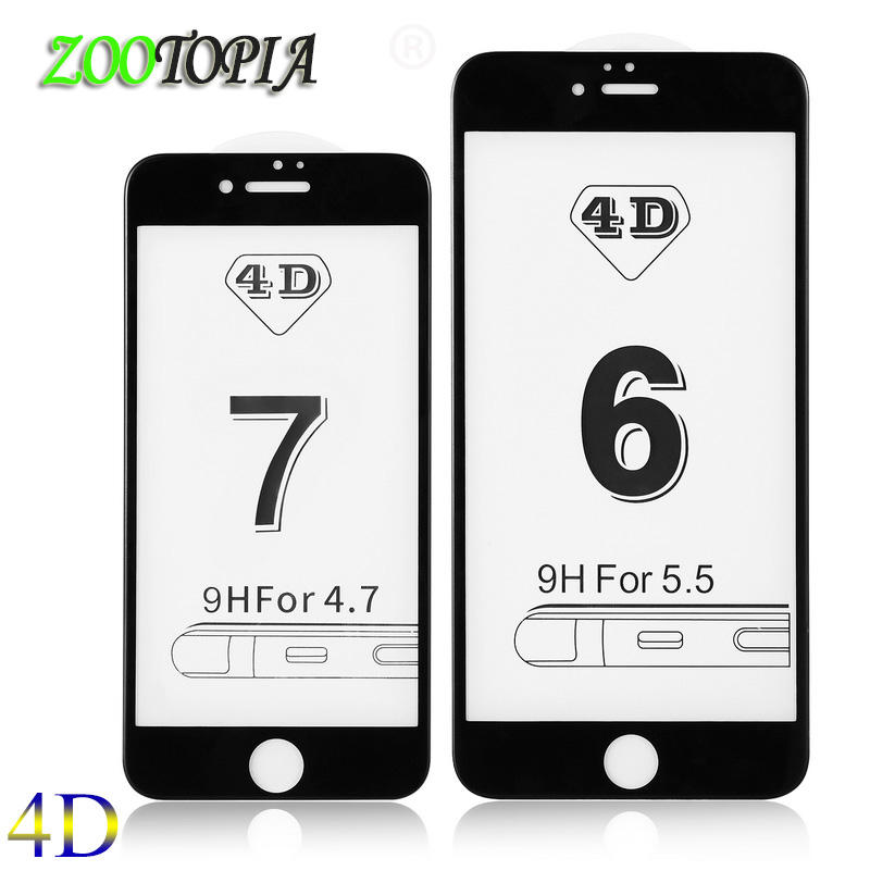 4D Full cover screen protector for font b iPhone b font 6 glass font b iphone