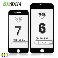 4D Full cover screen protector for iPhone 6 glass iphone 6 on glass for iPhone 7 screen protector 6 Plus 6s glass 7 Glass new 3D