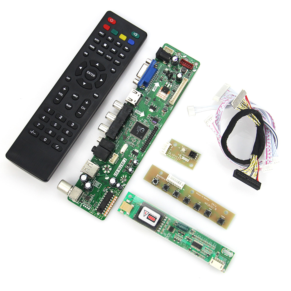 T.VST59.03 LCD/LED Controller Driver Board For B154EW02 V7 LP154WX4-TLC3 (TV+HDMI+VGA+CVBS+USB) LVDS Reuse Laptop 1280x800 t vst59 03 lcd led controller driver board tv hdmi vga cvbs usb for b101ew05 v 3 pq101wx01 lvds reuse laptop 1280x800