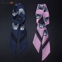KANCOOLD Scarf women Fashion Ladies Ribbon Bag Hat Headband Animal Scarf Tied Handle Small Ribbon Scarf Women 2018Nov21(China)