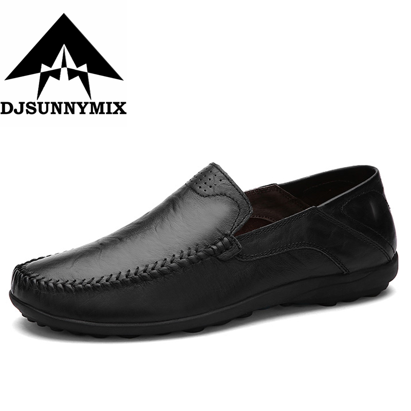DJSUNNYMIX New  Cow Split Leather Men Flat Shoes Brand Moccasins Men Loafers Driving Shoes Fashion Casual Shoes  plus size 39-47 2017 new comfortable casual shoes loafers men shoes quality split leather shoes men flats hot sale moccasins shoes