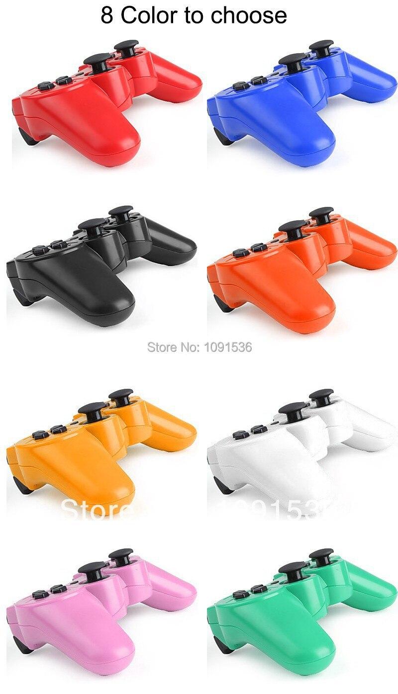 Rojo blister embalaje mando inalámbrico Bluetooth para PS3 para PC Gamepads Mandos