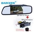 """Câmera traseira do carro hd 170 graus de visão noturna uso para OPEL Astra H/Corsa D/Zafira B, FIAT Grande + Universal 4.3 """"espelho reverso do carro"""