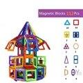 112 pcs Venda Quente de Alta Qualidade DIY 3D Blocos Magnéticos Brinquedos Educativos para Crianças Tijolos de Bloco de Construção Magnética Mag Magnética conjunto